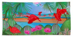 Scarlet Party - Limited Edition 1 Of 20 Beach Towel