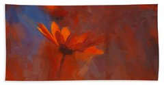Scarlet Petals  Beach Towel by Paul Davenport