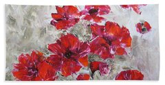 Scarlet Poppies Beach Sheet