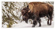 Scary Bison Beach Towel