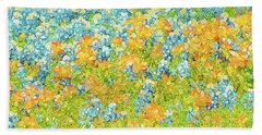 Scattered Impressions Bold Wildflowers  Beach Towel