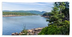 Beach Towel featuring the photograph Scenic Cove At Acadia National Park by John M Bailey