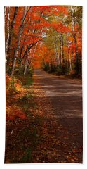 Scenic Maple Drive Beach Towel by James Peterson