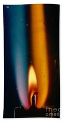 Schlieren Photo Of A Lighted Candle Beach Towel