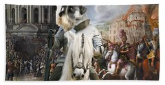 Schnauzer Art - A Siege The Sack Of Rome   Beach Towel