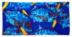Schooling  Jack Fish Beach Towel