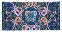 Scottish Blessing Celtic Hearts Duvet Beach Towel