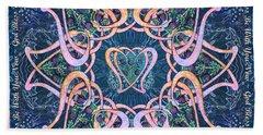 Scottish Blessing Celtic Hearts Duvet Beach Sheet by Michele Avanti