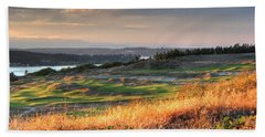 Scottish Style Links In September - Chambers Bay Golf Course Beach Towel by Chris Anderson