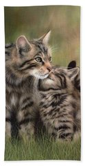 Scottish Wildcats Painting - In Support Of The Scottish Wildcat Haven Project Beach Towel