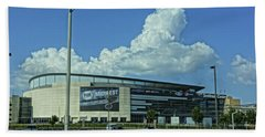 Scottrade Center Home Of The St Louis Blues Beach Sheet by Greg Kluempers
