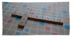 Scrabble Merry Christmas Beach Sheet