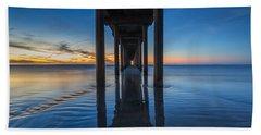 Scripps Pier Blue Hour Beach Towel