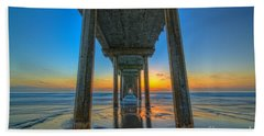 Scripps Pier Sunset Beach Towel