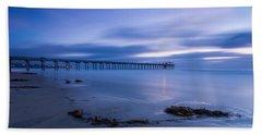 Scripps Pier Twilight - Color Beach Towel