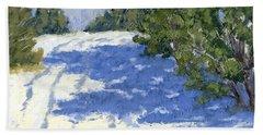 Scrub Oak Shadows Beach Towel