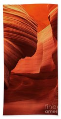 Beach Towel featuring the photograph Sculpted Sandstone Upper Antelope Slot Canyon Arizona by Dave Welling
