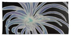 Beach Towel featuring the painting Sea Anemone by Dianna Lewis