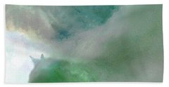 Sea Glass Storm Beach Towel by Michael Rock