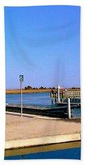 Sea Gulls Watching Over The Wetlands Beach Sheet by Amazing Photographs AKA Christian Wilson
