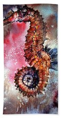 Beach Towel featuring the painting Sea Horse by Peter Williams
