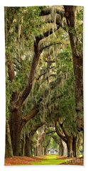 Sea Island Oaks Portrait Beach Sheet