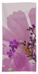 Beach Sheet featuring the photograph Sea Lavender Macro  by Sandra Foster