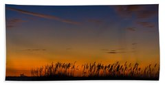 Sea Oats At Twilight Beach Towel