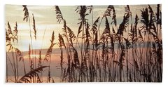 Fabulous Blue Sea Oats Sunrise Beach Towel by Belinda Lee