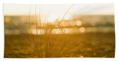 Beach Towel featuring the photograph Sea Oats Sunset by Sebastian Musial