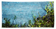 Beach Sheet featuring the digital art Sea Shore 1 by David Lane