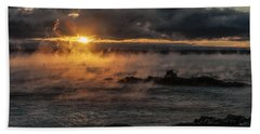Sea Smoke Sunrise Beach Towel