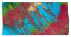 Seabreeze Abstract Painting Beach Towel