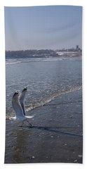 Seagull 1 Beach Sheet by Robert Nickologianis