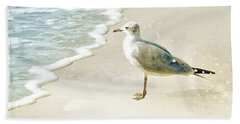 Seagull 2 Plum Island Beach Towel