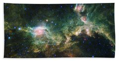 Seagull Nebula Beach Towel by Adam Romanowicz