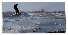 Beach Towel featuring the photograph Seagull by Robert Nickologianis