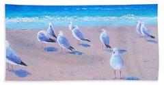 Seagulls Beach Towel by Jan Matson