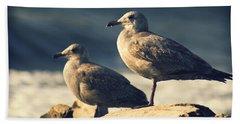 Seagulls On A Beach Beach Towel