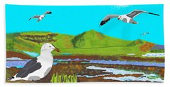 Seagulls Beach Towel
