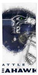 Seahawks 12 Beach Towel