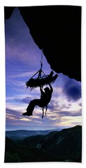 Search And Rescue Climber Hanging Beach Towel