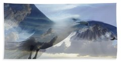 Searching The Sea - Seagull Art By Sharon Cummings Beach Towel by Sharon Cummings