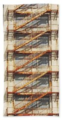 Sears Crosstown Fire Escape Memphis Tn Beach Towel