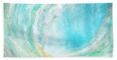 Seascapes Abstract Art - Mesmerized Beach Sheet