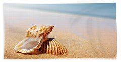 Seashell And Conch Beach Towel