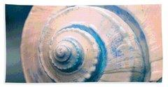Seashell In Pastel Beach Towel