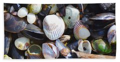 Seashells Beach Towel by Tine Nordbred