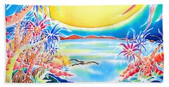 Seashore In The Moonlight Beach Towel