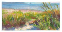 Beach Towel featuring the painting Seaside Afternoon by Talya Johnson